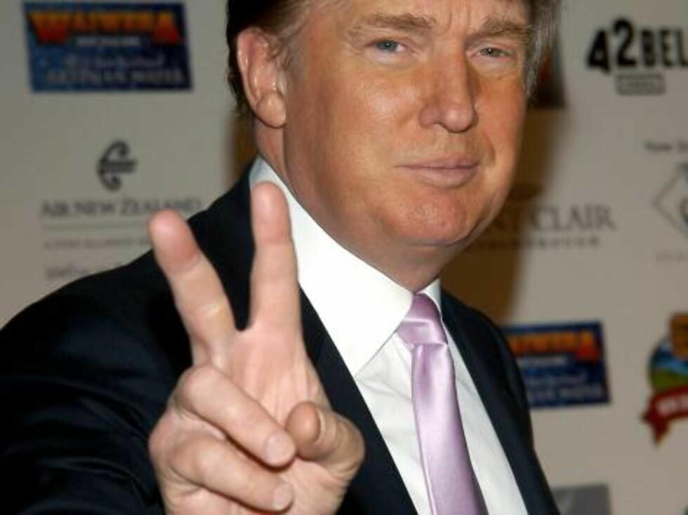 Hentesveis-guruen Donald Trumph kunne nok hjulpet til med verdensfreden. Foto: All Over Press