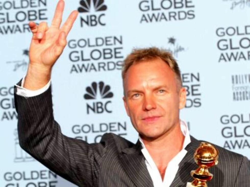 Sangeren Sting viser oss hva han ønsker seg mest av alt. Foto: All Over Press