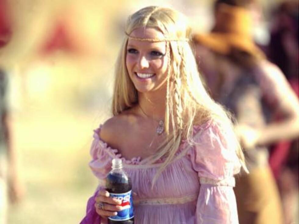 Britney Spears for lenge, lenge siden. Utkledd som en hippie. Foto: All Over Press