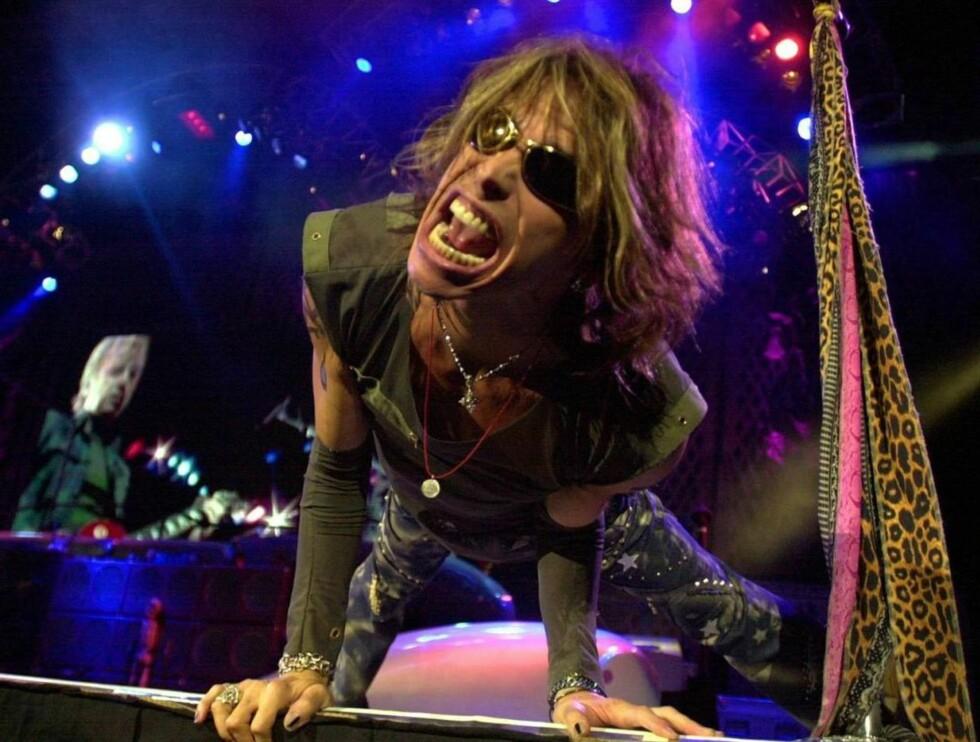 SYK: Aerosmith-vokalisten lider av den alvorlige leversykdommen hepatitt C. Foto: AP/Scanpix