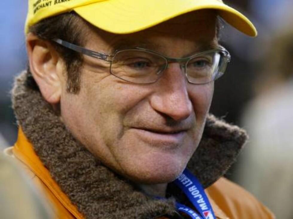 Oscar-vinneren Robin Williams elsker baseball! Foto: All Over Press