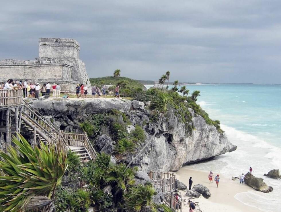 GAMMEL STORHET: Ruinene av Tulum er verdt et besøk. Mayaene levde her mellom år 700 og 900.