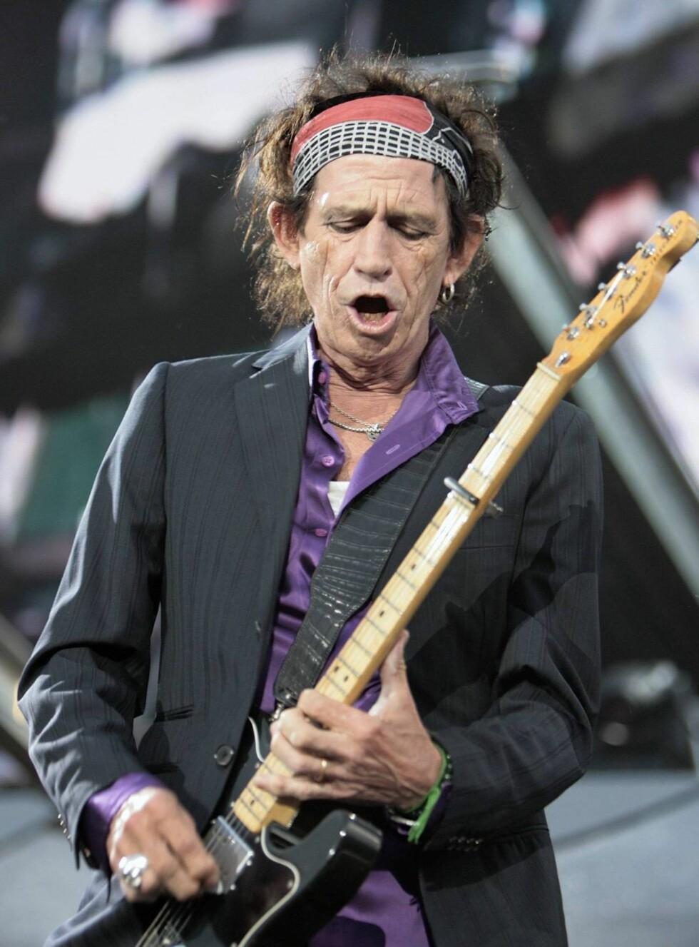 FERDIG: Hvis ikke det ikke er sterk narkotika, er det like greit å slutte helt, mener Keith... Foto: AP