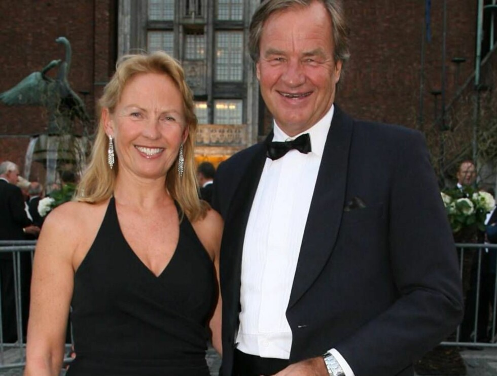 FESTKLAR: Norwegian-sjef Bjørn Kjos feiret med kona Gerd Helene. Foto: Se og Hør