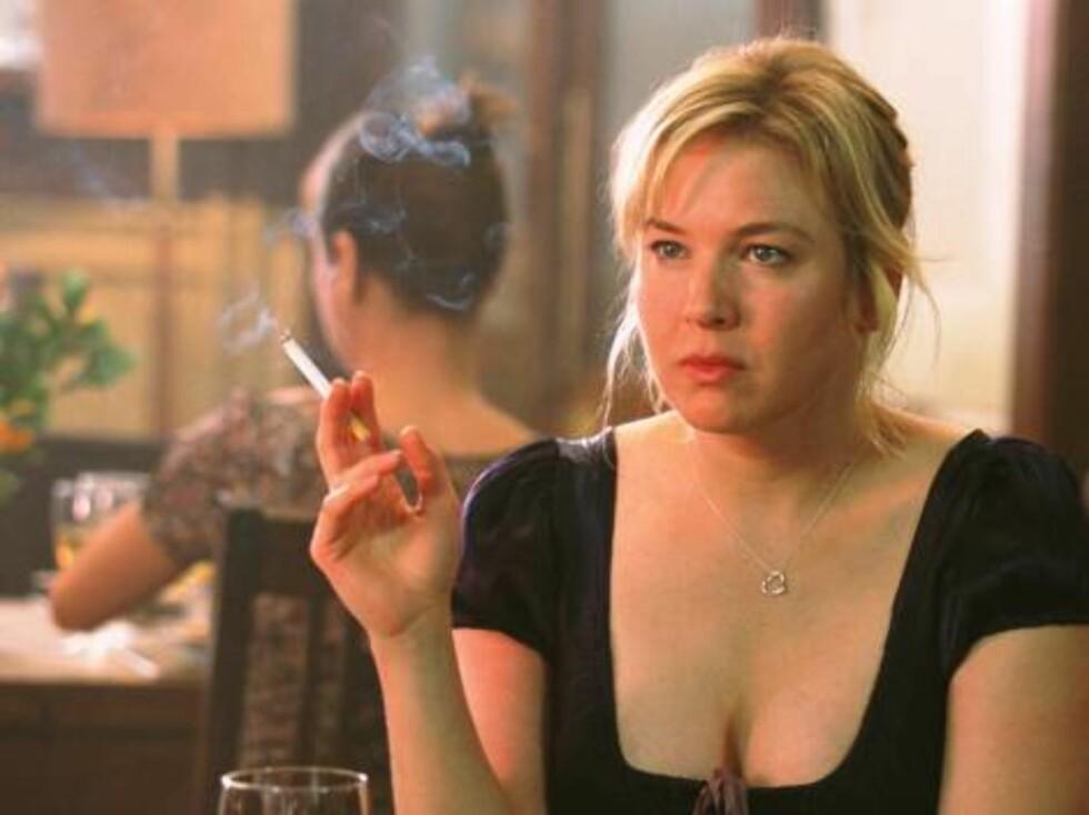 """Renee Zellwegger i """"Bridget Jones' dagbok"""". Renee hatet  å legge på seg så mye for rollen, men gjorde det også i oppfølgeren, """"Bridget Jones på randen"""". Foto: Filmweb"""