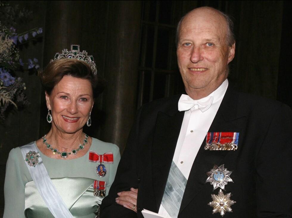 JUBILANTER: I 2007 fyller både kong Harald og dronning Sonja 70 - og begge blir behørig feiret. Foto: All Over Press