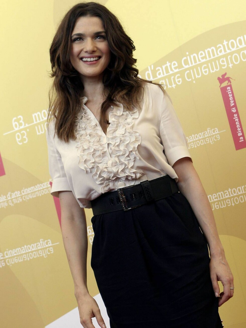 TYNN: Rachel Weisz fødte barn for fire måneder siden. Kan du se det? Neppe. Foto: All Over Press