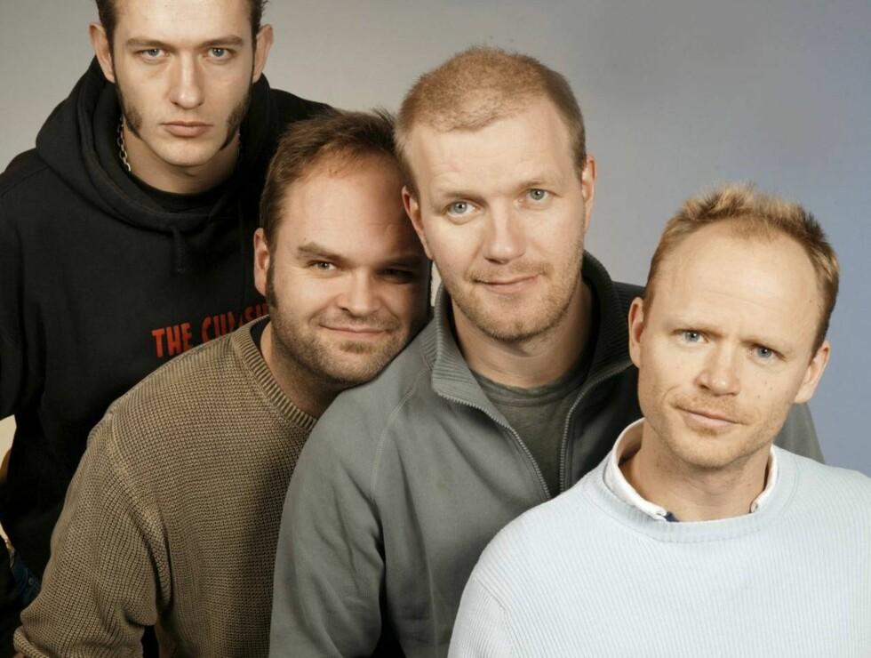 TEAMET: Harald Eia er en av Norges mest kjente komikere. Her er han sammen med Bård Tufte Johansen, Atle Antonsen og Kristoffer Schau. Foto: NRK