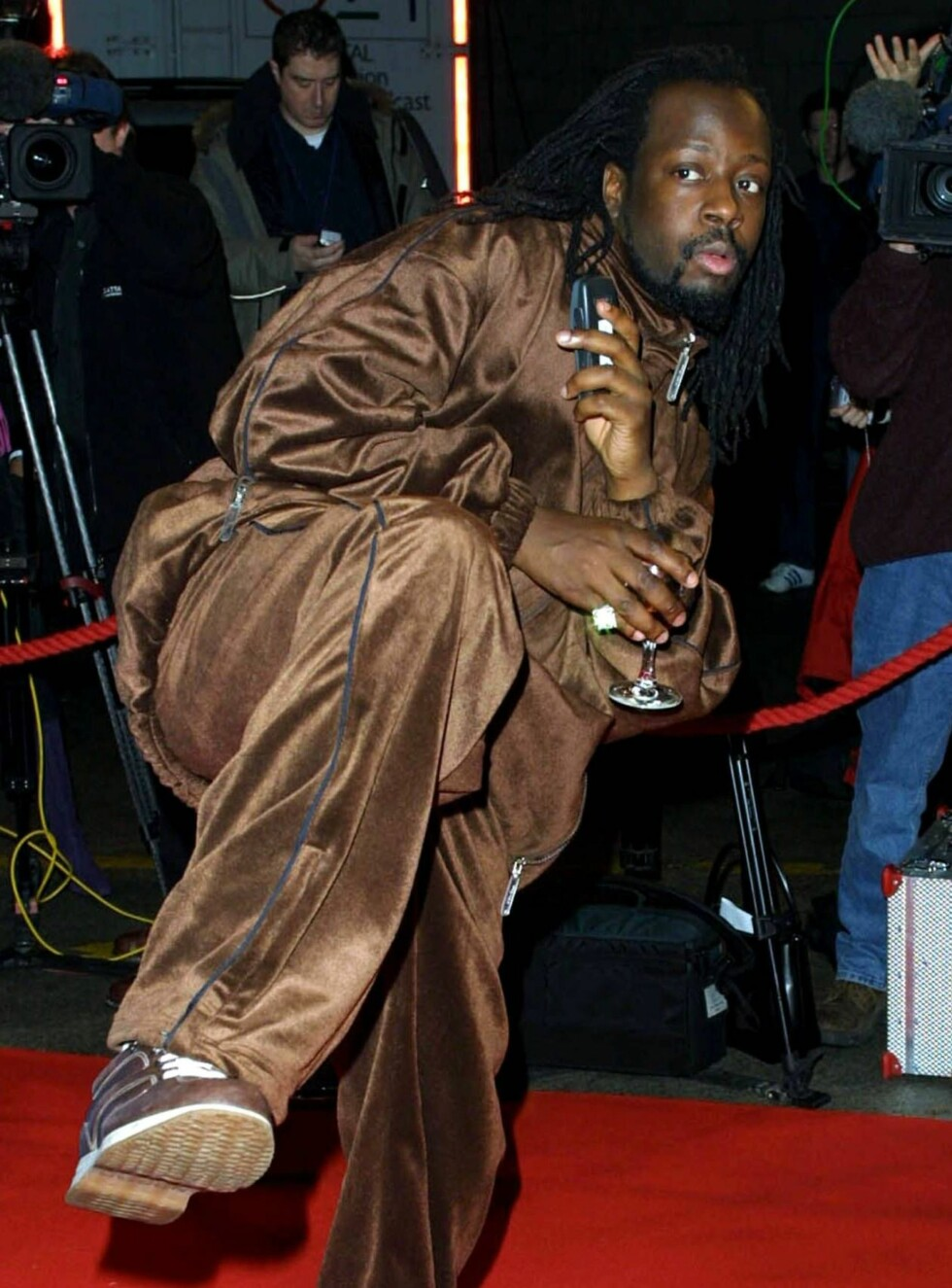 USTØ TYPE: Wyclef var langtfra edru da han skjelte ut president George W. Bush i Las Vegas. Foto: All Over Press