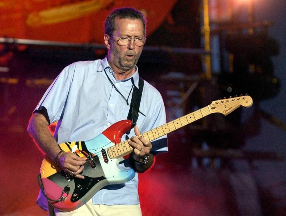 GITARIST: Eric Clapton er kjent som en av de dyktigste gitaristene i verden.  Foto: AP/Scanpix
