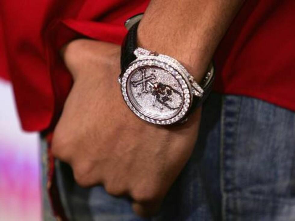 Rapperen og produsenten Pharrell Williams' klokke. Foto: All Over Press
