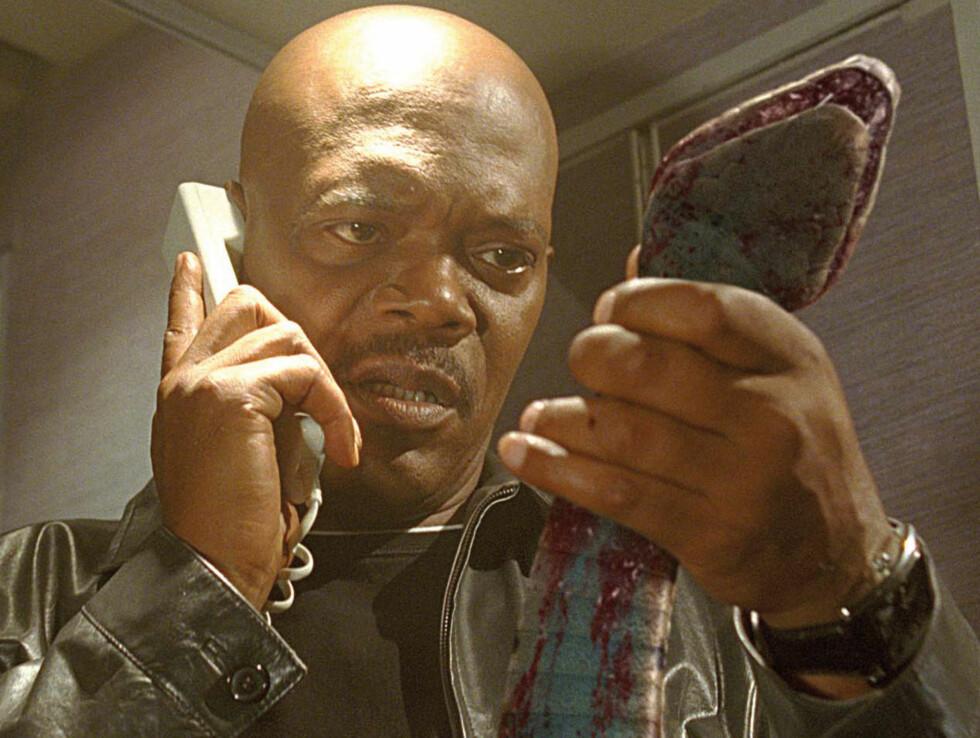 TØFFEST: Samuel L. Jackson dreper alle slags slemminger på film. Foto: James Dittiger/newline.wireima