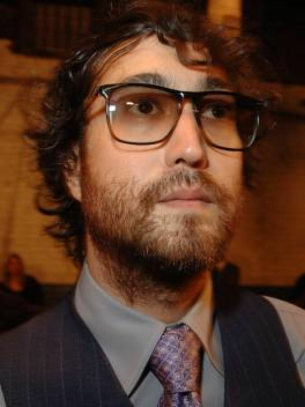 Sean Lennon sits front row during the Imitation of Christ Spring 2007 Collection as part of the Olympus New York Fashion Week on Sunday, September 10, 2006 in New York City, New York. (Pictured: Sean Lennon)  Photo by Gregorio Binuya/ABACAUSA  Code:4001/A Foto: Stella Pictures