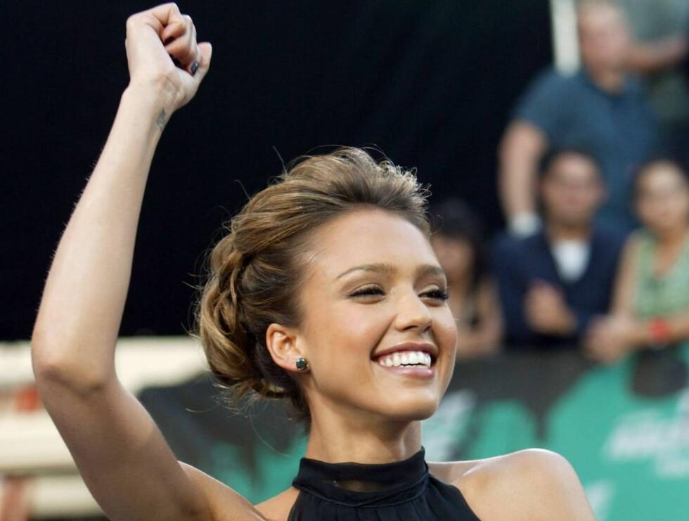 POPULÆR: Jessica Alba har på kort tid blitt en av verdens største stjerner. Foto: AP/Scanpix