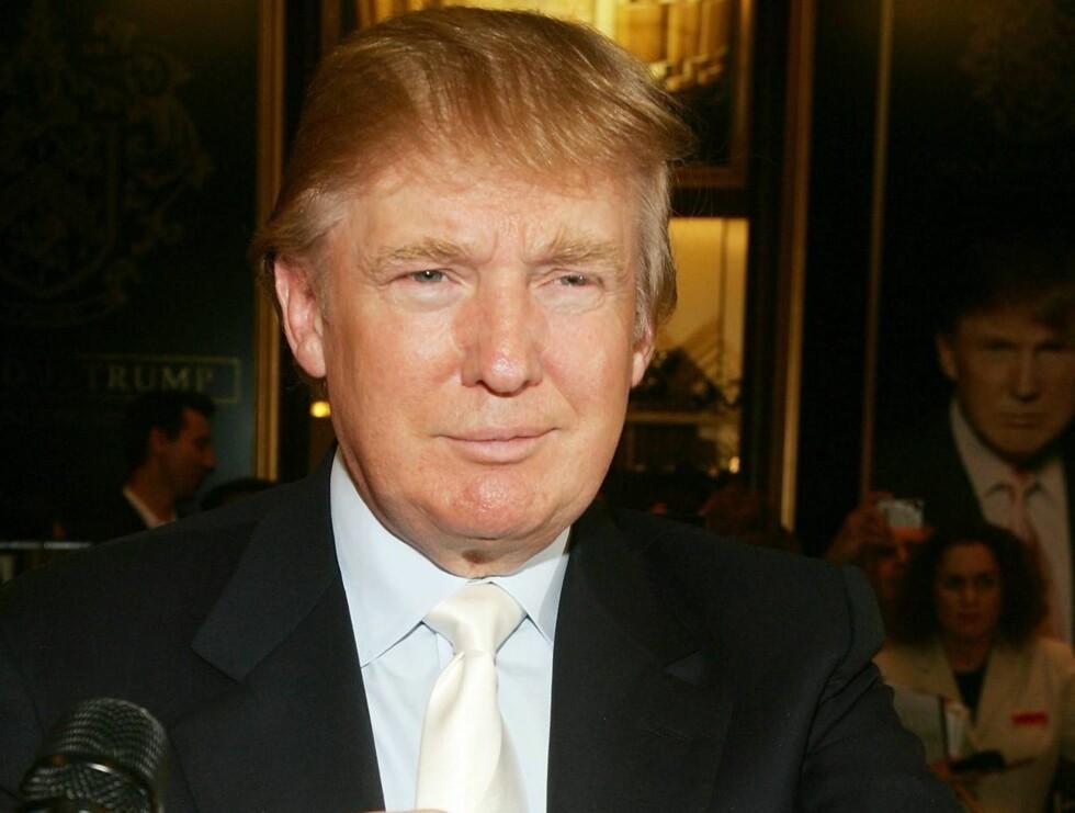 BREYKTET: Donald Trumps sveis er blitt hans kjennemerke, men hvor stilig den er kan diskuteres. Foto: All Over Press