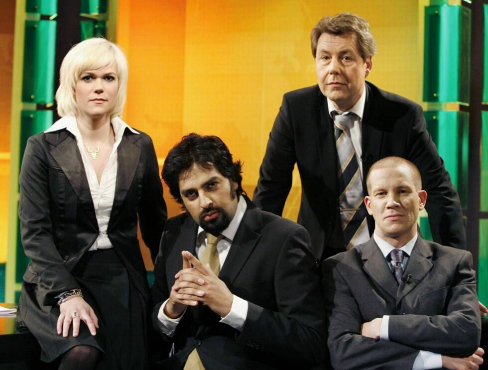 "RIKETS RØST: Otto har gjort suksess sammen med Sigrid Bonde Tusvik, Zahid Ali og Henrik Elvestad i ""Rikets røst"". Foto: TV2"