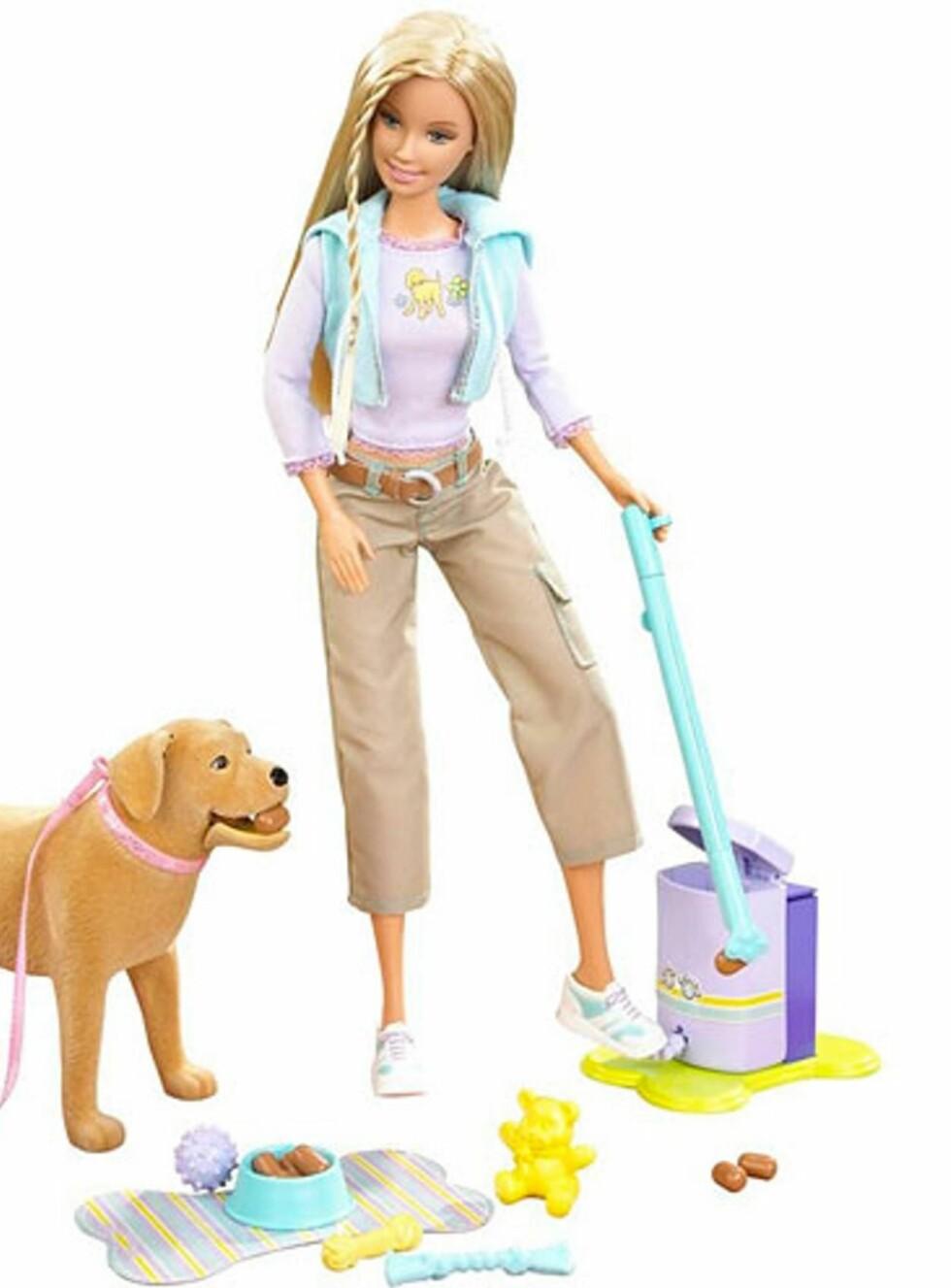 BJEFF: Barbie rydder opp med et smil! Foto: Mattel