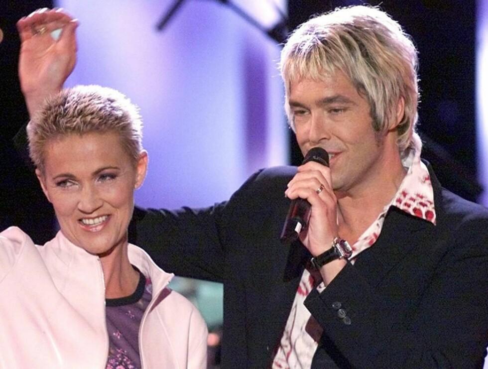 COMEBACK: Roxette er klare til å stå på scenen igjen. Her er Per Gessle og Marie Fredriksson fra en opptreden på World Music Awards i 2000. Foto: AP
