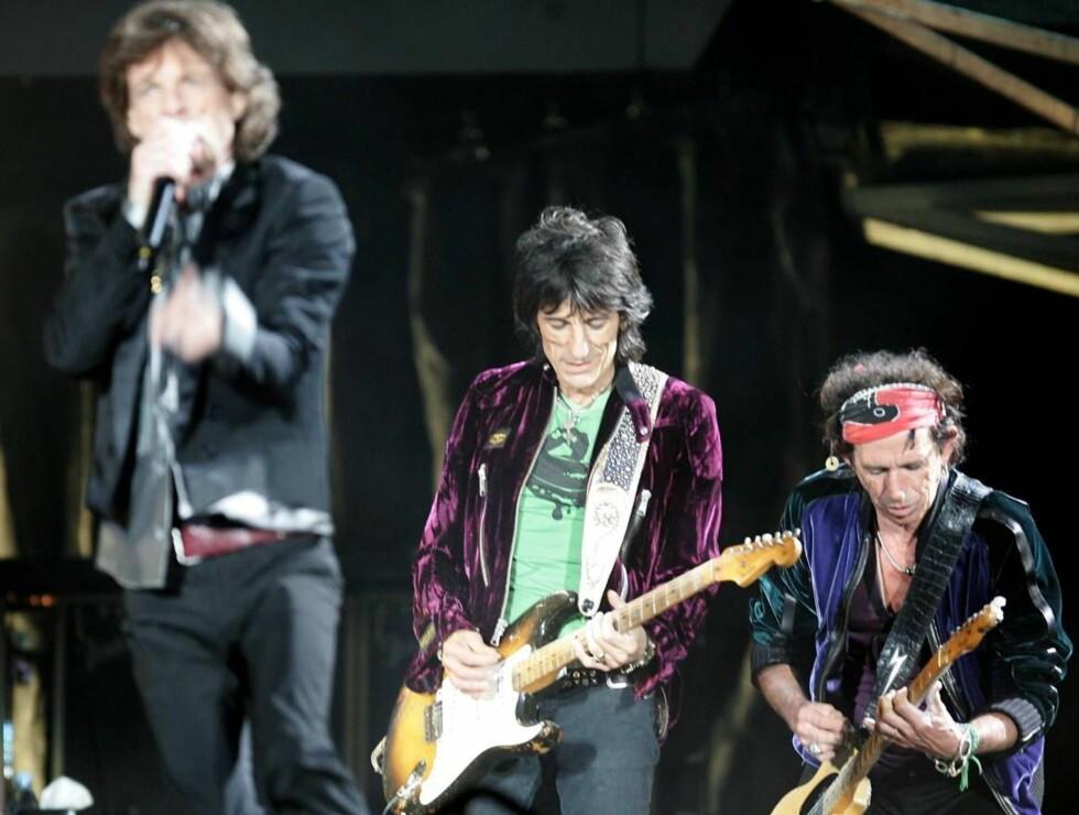 PÅ TURNÉ: Gamle rockere ruster aldri. Snart inntar Rolling Stones Bergen. Foto: All Over Press