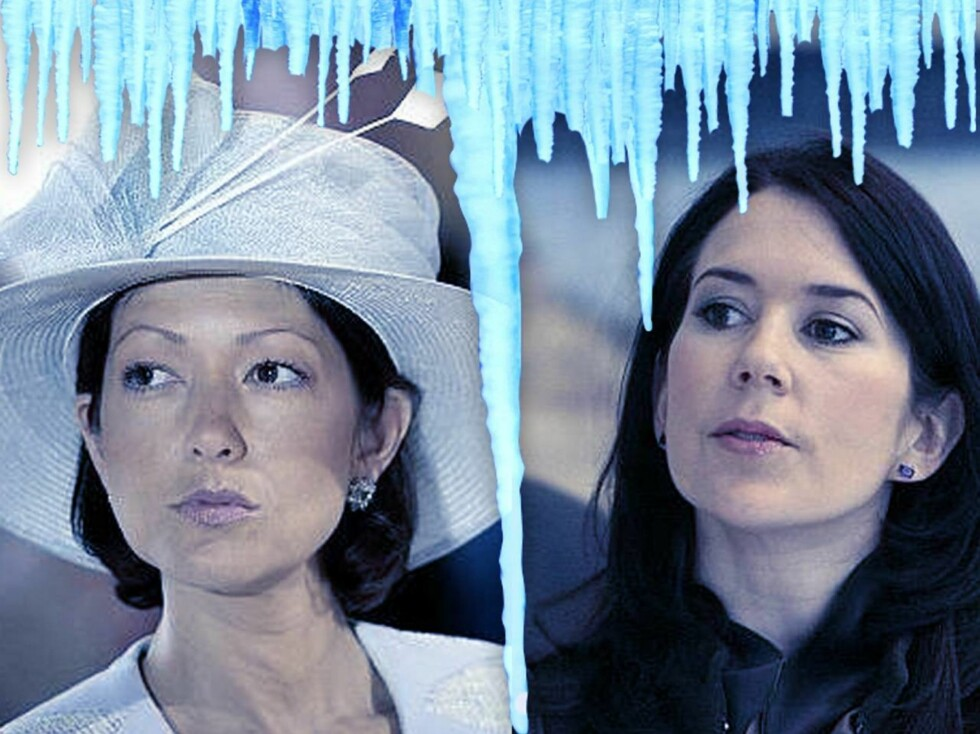 KJØLIG: Forholdet mellom Mary og Alexandra skal ha kjølnet betraktelig. Foto: Montasje