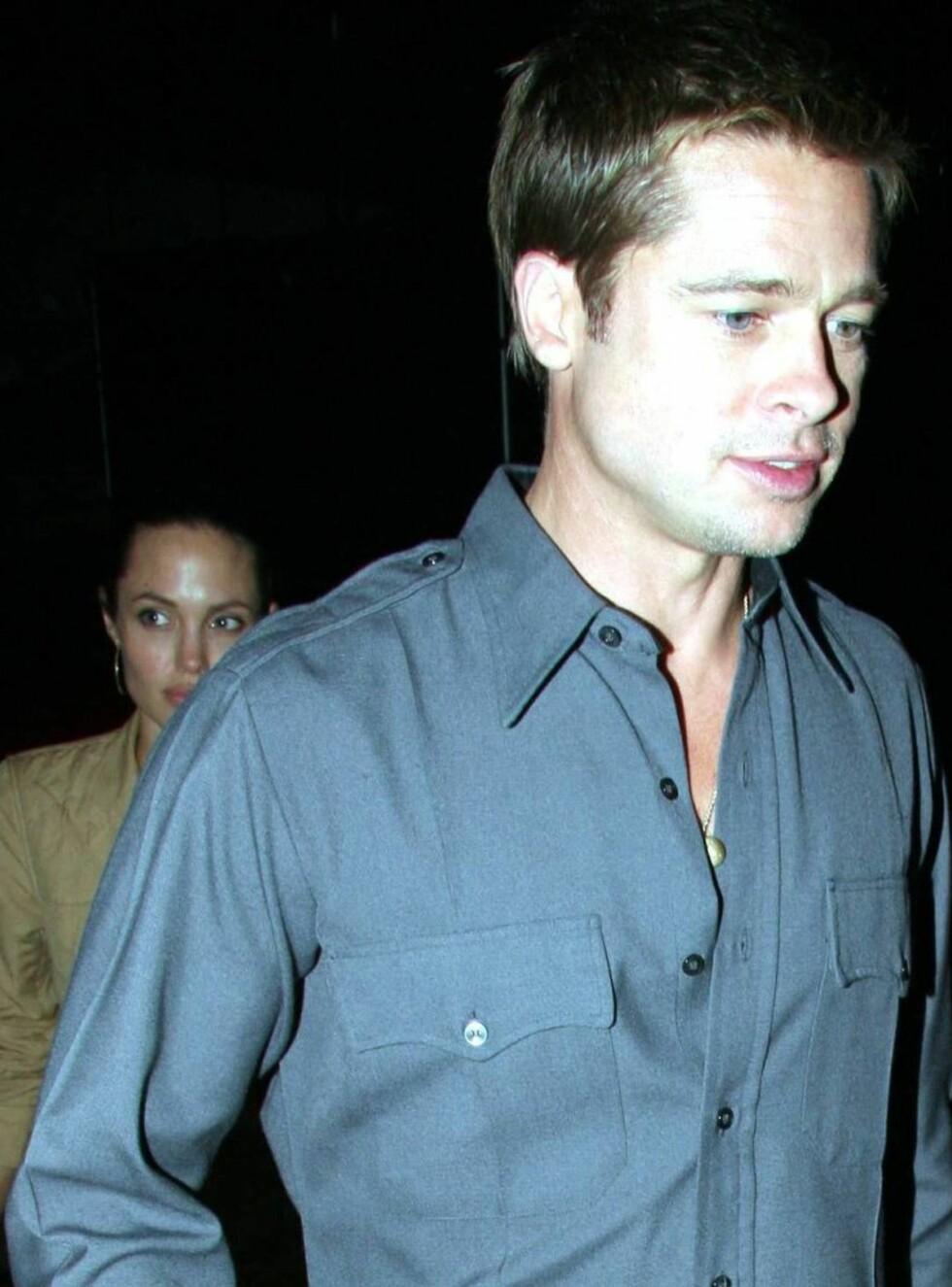 PÅ LUFTETUR: Det er lenge siden vi har sett Brad og Angelina sammen. Foto: All Over Press