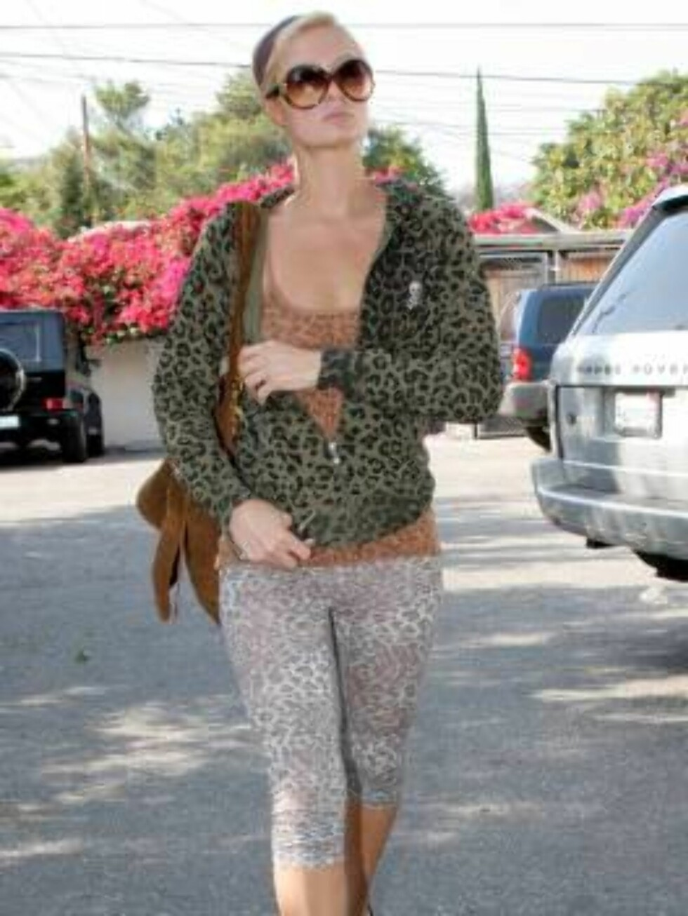 Paris Hilton leaving the gym in Hollywood in leopard June 5, 2006 X17agency exclusive Foto: All Over Press