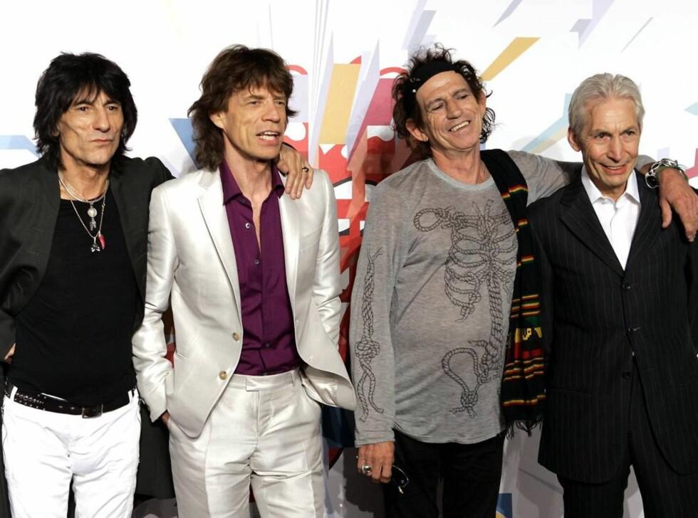 BANDET: I over 40 år har The Rolling Stones holdt det gående. Nå begynner Mick å glemme tekstene. Foto: AP/Scanpix