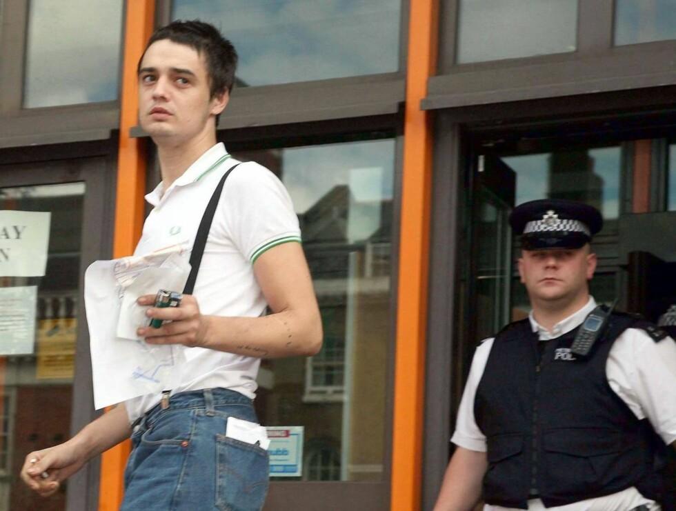 DØMT TIL REHAB: Pete erklærte seg skyldig da han ble tiltalt for fem tilfeller av oppbevaring av narkotika. Foto: Stella Pictures