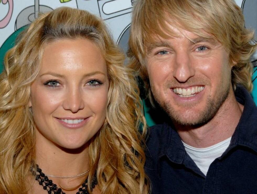 """FANT HVERANDRE: Kate og Owen var bare venner under innspillingen av """"Du, jeg og Dupree"""", men i løpet av promoteringsturneen skal følelsene ha kommet...  Foto: AP/Scanpix"""
