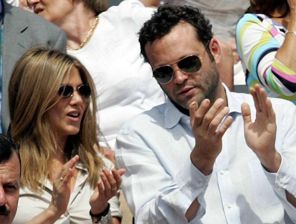 SMILER: Vince Vaughn har støttet Jennifer etter skilsmissen fra Brad Pitt: Nå svirrer forlovelsesryktene... Foto: AP