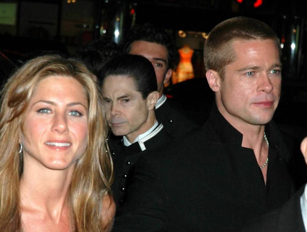DOBBELBRYLLUP: Jennifer Aniston og Brad ble omtalt som Hollywoods drømmepar, men forholdet sprakk. Nå kan det bli nye bryllup på begge to. Foto: All Over Press