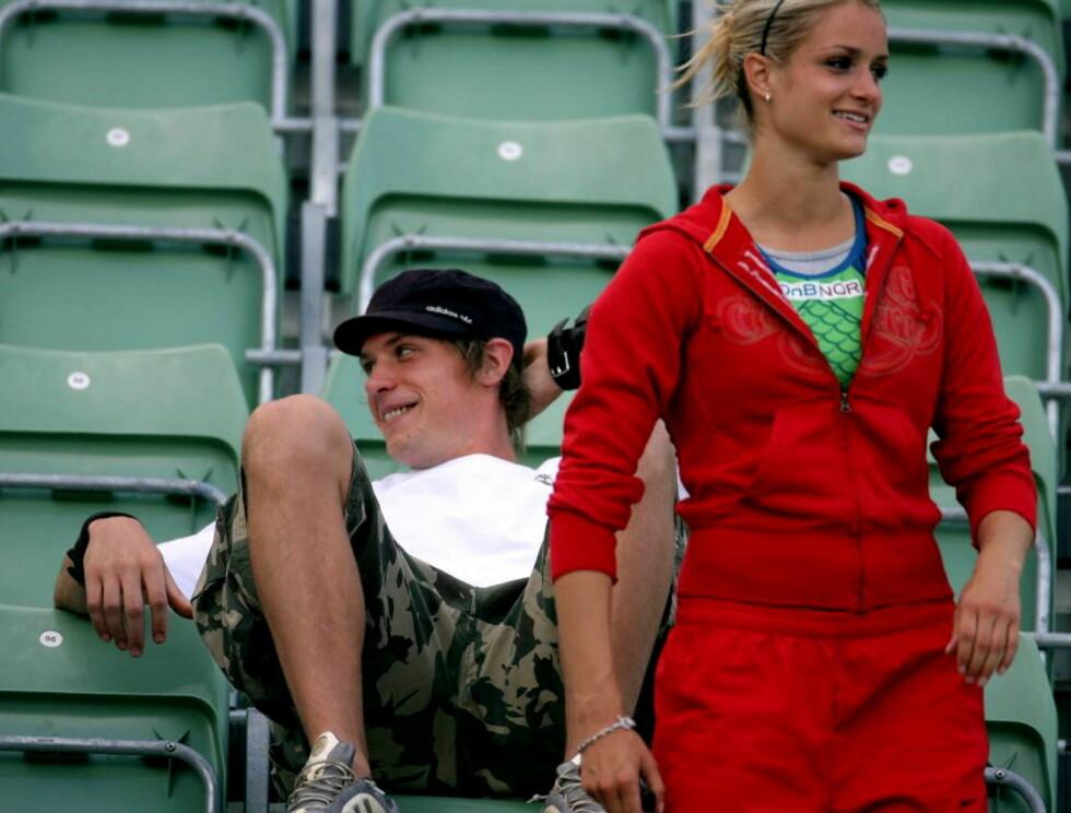 SPORTY PAR: Christina er sammen med spydkasteren Andreas Thorkildsen. Foto: Erlend Haugen