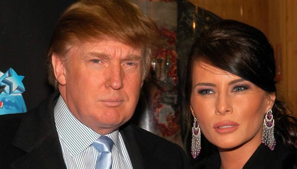 DOLLARGLIS: Donald er strålende fornøyd - han er blitt far for femte gang! Foto: All Over Press