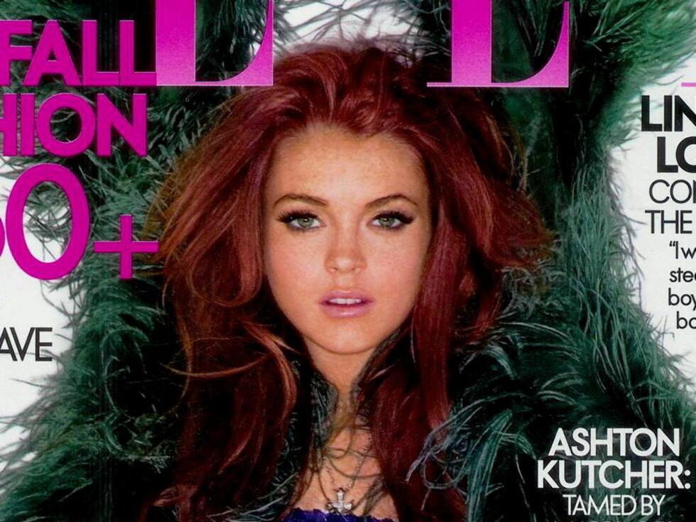 ELLE: Lindsay er en populær coverpike, men særlig populær hos pressen er hun nok ikke nå ... Foto: All Over Press