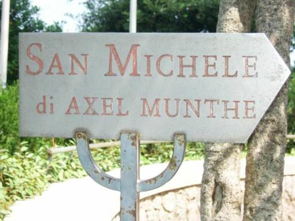 ET MUST: Villaen San Michele som tilhørte den svenske legen Axel Munthe er verdt en visitt når du besøker byen Anacapri. Foto: Erik Valebrokk