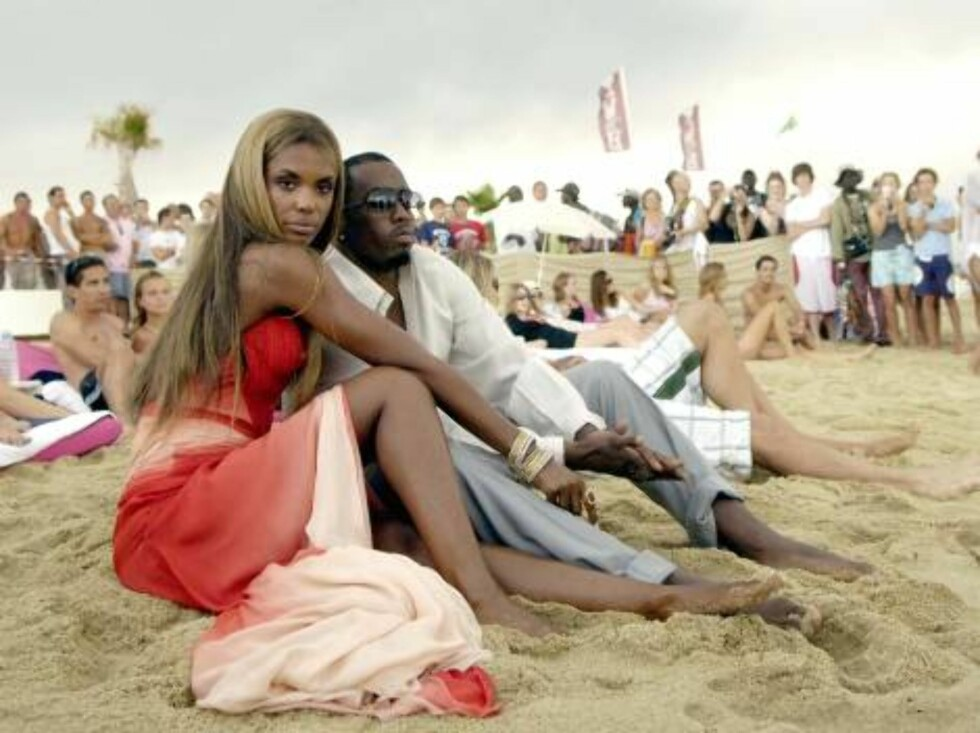 Sean 'P.Diddy' Combs with his wife Kim Porter shooting a video for Estee Lauder in Saint-Tropez, South of France on August 5, 2006. Photo by ABACAPRESS Code:4001/102981 COPYRIGHT STELLA PICTURES Foto: Stella Pictures