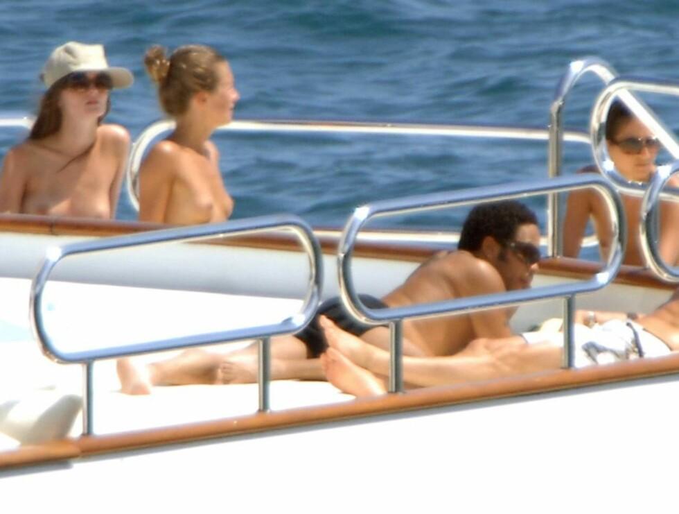 GODT UTVALG: Lenny dro på båttur med mange toppløse jenter! Foto: Stella Pictures