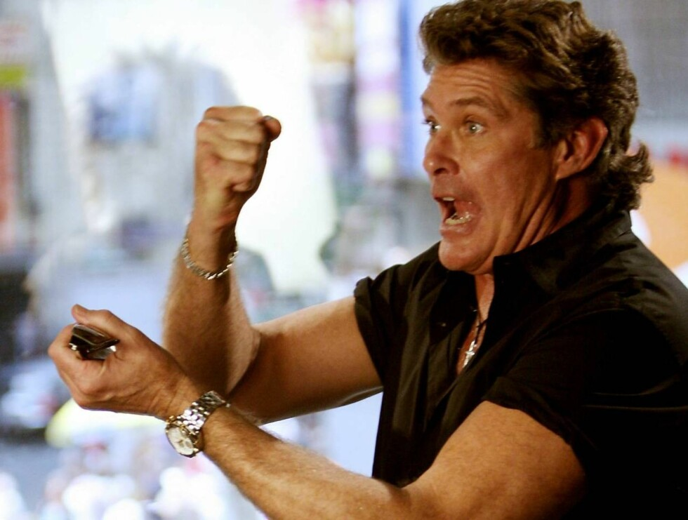 RASER: Det har gått litt trått for David Hasselhoff i det siste ... Foto: All Over Press