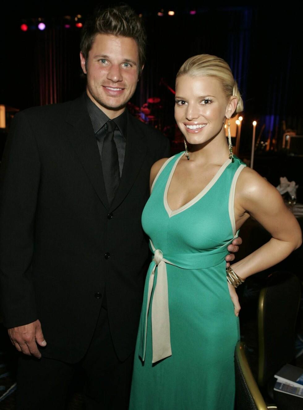 "GLANSDAGENE: Jessica og Nick ble verdensberømte i MTV-serien ""Newlyweds"". Foto: AP/Scanpix"