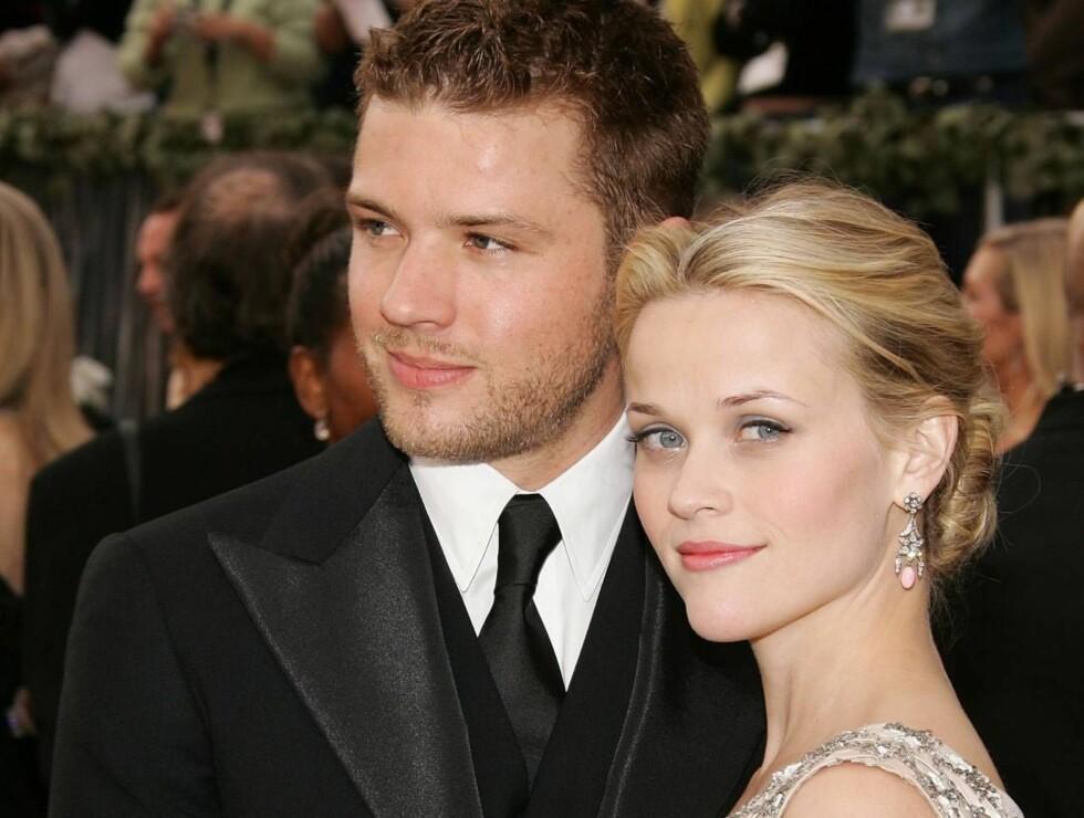 ULIK JESSICA: I motsetning til Jessica har Reese vunnet Oscar for sine skuespillerprestasjoner, har to barn - og er lykkelig gift med skuespilleren Ryan Phillippe. Foto: All Over Press