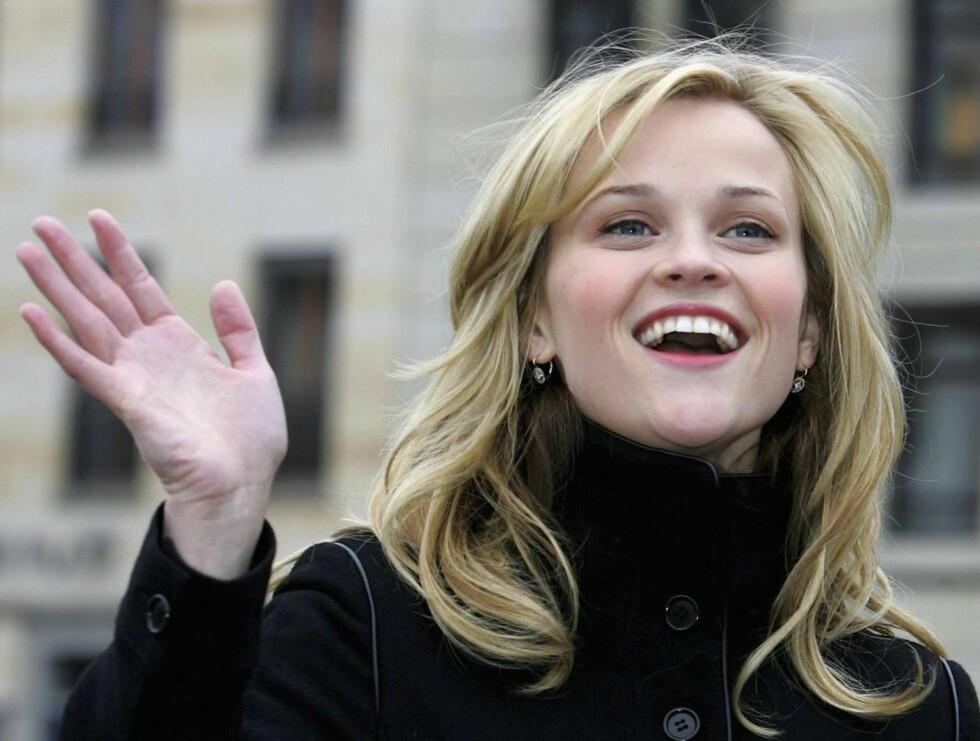 BLID OG GLAD: Reese er blond og blid - og en meget dyktig skuespiller! Foto: All Over Press