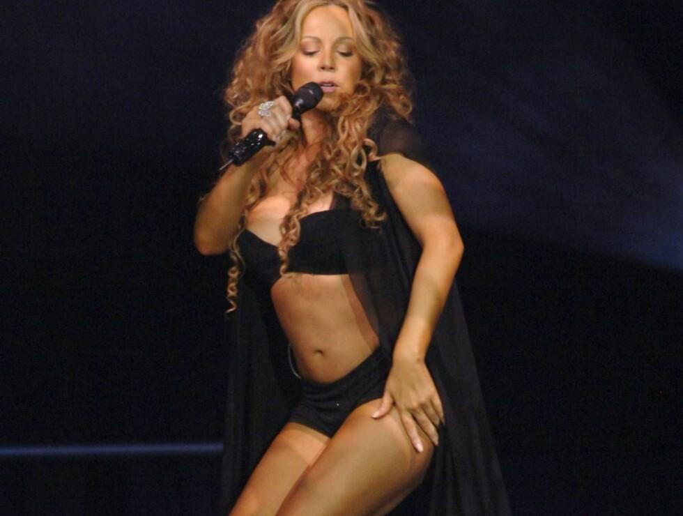 FORTSATT HOT: Mariah trener hardt for å holde formen på topp. 36-åringen ser fortsatt ut som om hun er 20 ! Foto: Stella Pictures