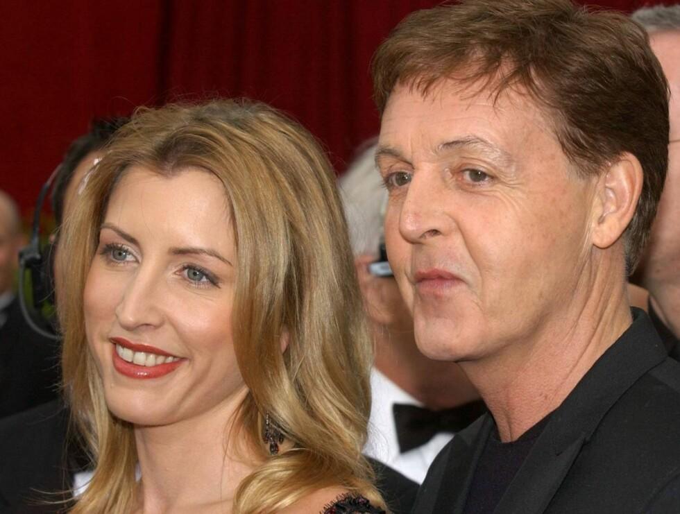 SKITTEN SKILSMISSE: Heather Mills og Paul McCartney giftet seg i 2002. Hun krever 500 millioner for hvert år de var gift... Foto: Getty Images