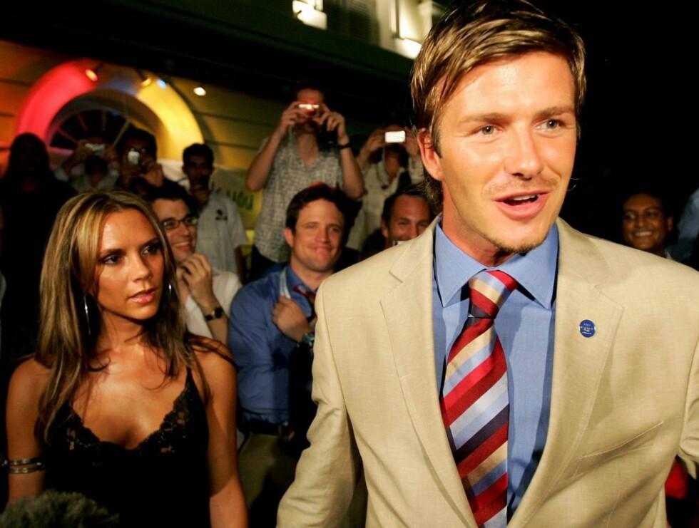 VENNEPAR: David og Victoria Beckham er gode venner av Cruise og Holmes. Men selv ikke de får være nær Suri. Foto: All Over Press