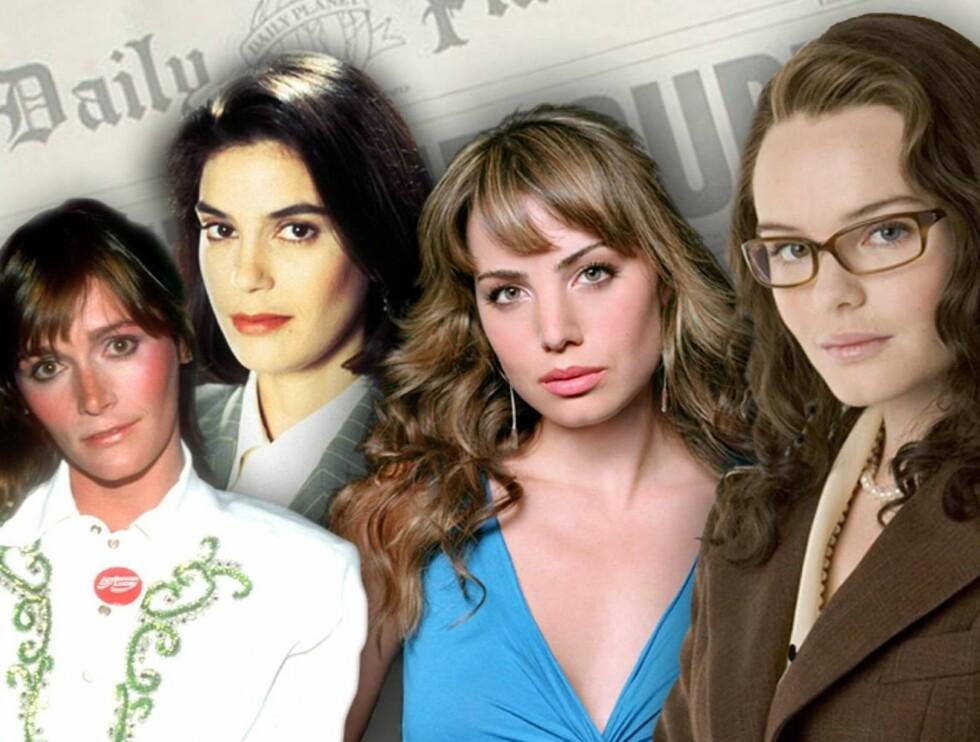 FREIDIG FIRKLØVER: Hvem av dem er vakrest som Lois Lane? Foto: TV Norge/Filmweb/All Over/Warn