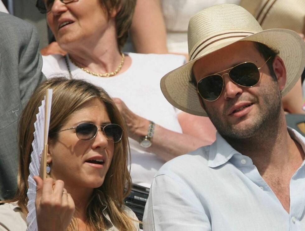 SLUTT: Jennifer skal ha fortalt alle venninnene sin om at Vince ikke var den rette. Kanskje er hun fortsatt forelsket i eksmannen Brad Pitt. Foto: All Over Press