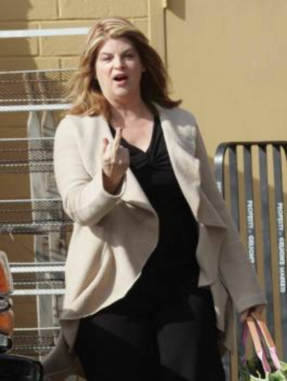 """<strong>Code:</strong>X17XX8-Kristian/Pham, California, USA, 23.11.2004: Actress Kirstie Alley is shopping huge -six carts- for Thanksgiving week-end in Hollywood. The """"Fat Actress"""" star took off her red cape showing she does not have to gain weight for her part. All Ov Foto: All Over Press"""