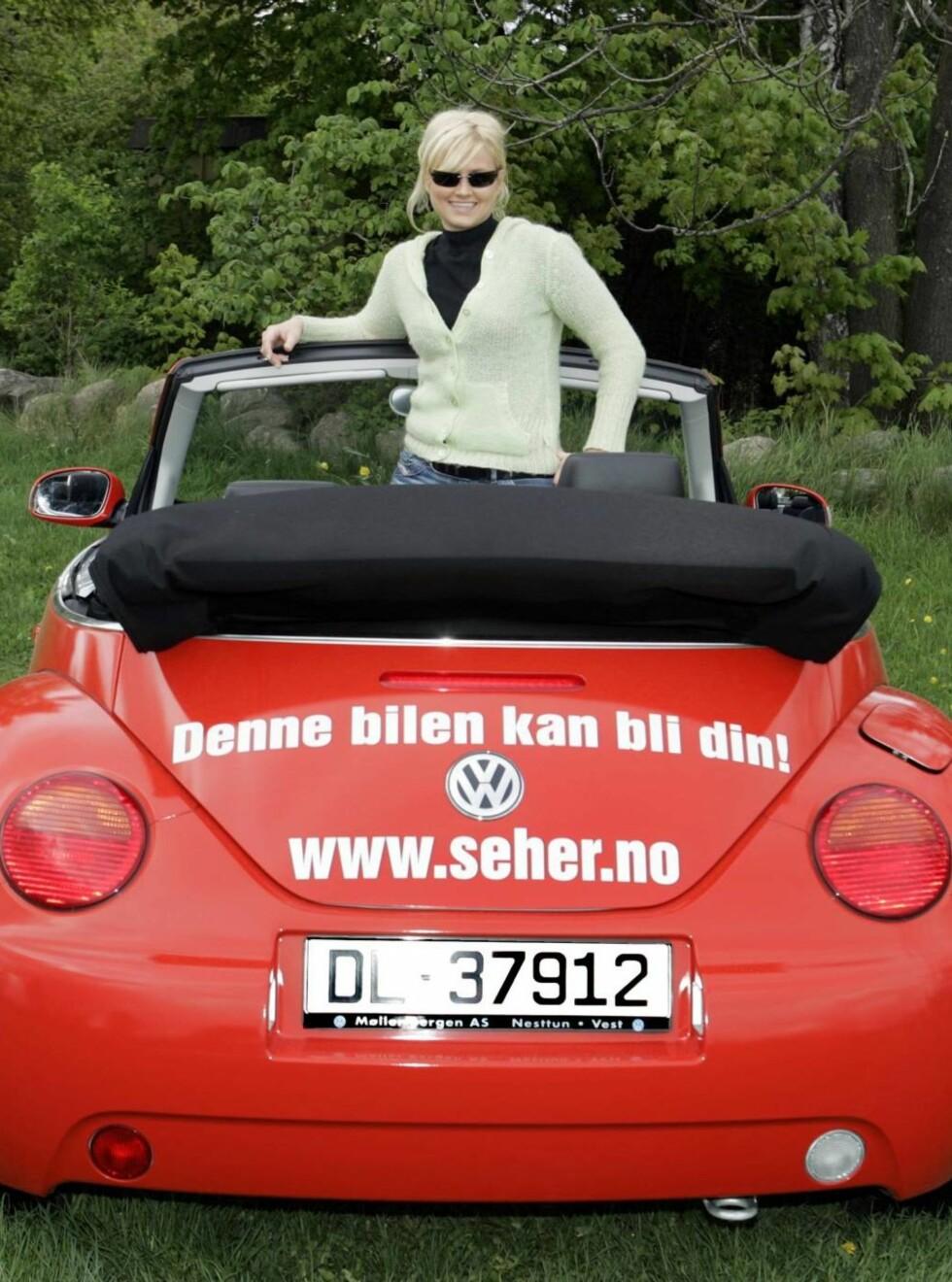 STRØKEN: Mer enn 33 000 har deltatt i vår sommerkonkurranse. En av dem kjører avgårde med Bobla !   Foto: Geir Egil Skog, frilansfoto.no