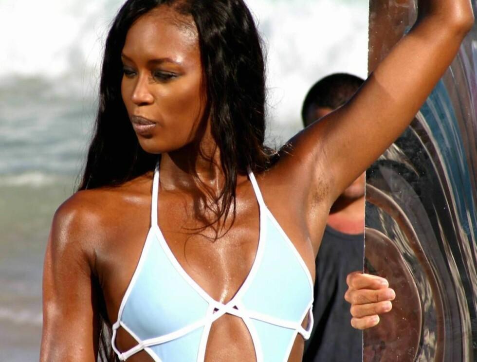 MODELL: Naomi Campbell er fortsatt en ettertraktet modell i en alder av 36 år. Foto: All Over Press