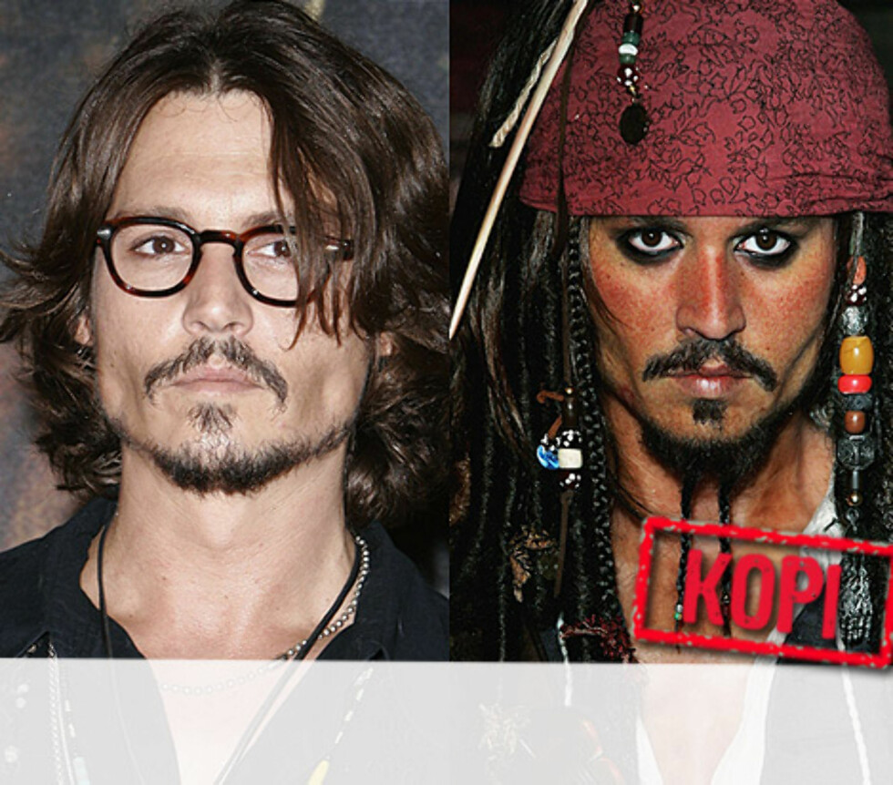 <strong>PIRATKOPI:</strong> Johnny Depp er stilt ut som hans alter ego piraten Jack Sparrow i Madame Tussauds spesialutstilling fra filmen Pirates of the Caribbean. Foto: All Over Press